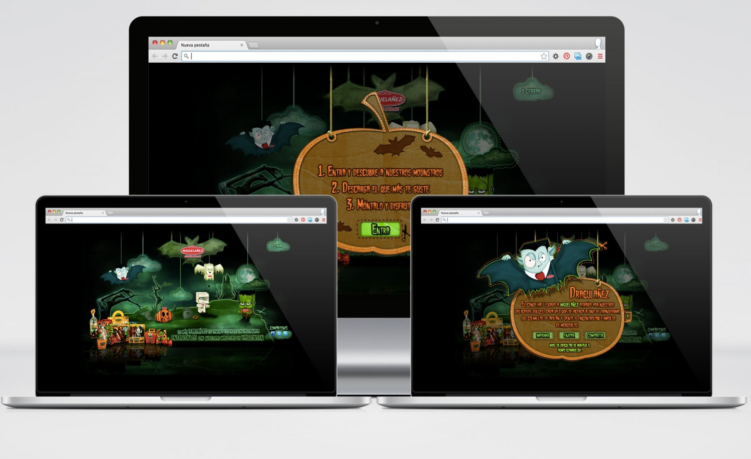 Miguelañez - Halloween - Microsite Flash
